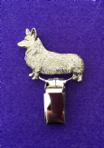 Dog Show Breed Ring Number Clip - Corgi (Pembroke) - FULL BODY Silver or Gold Style